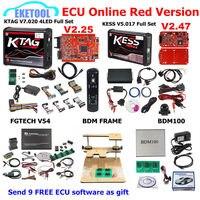Красный ЕС KESS V5.017 SW2.47 KTAG V7.020 SW2.25 FGTECH V54 0475/0386 программатор BDM BDM100 1255 9 бесплатная ЭБУ как подарок KESS 5,017 KTAG 7,020