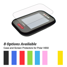 Rubber Protect Skin Case + Clear Screen Protectors Shield Film for Cycling Computer GPS Polar V650 Muti-Colors