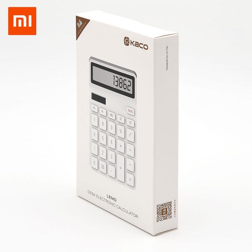 Xiaomi Mijia KACO LEMO calculatrice de bureau photoélectrique double piqué 12 affichage du nombre arrêt Intelligent pour le bureau de l'école 11