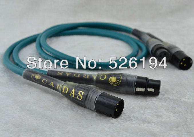 ФОТО Free shipping Pair Cardas Cross Audio XLR Interconnect cable Cardas XLR cable Cardas cable