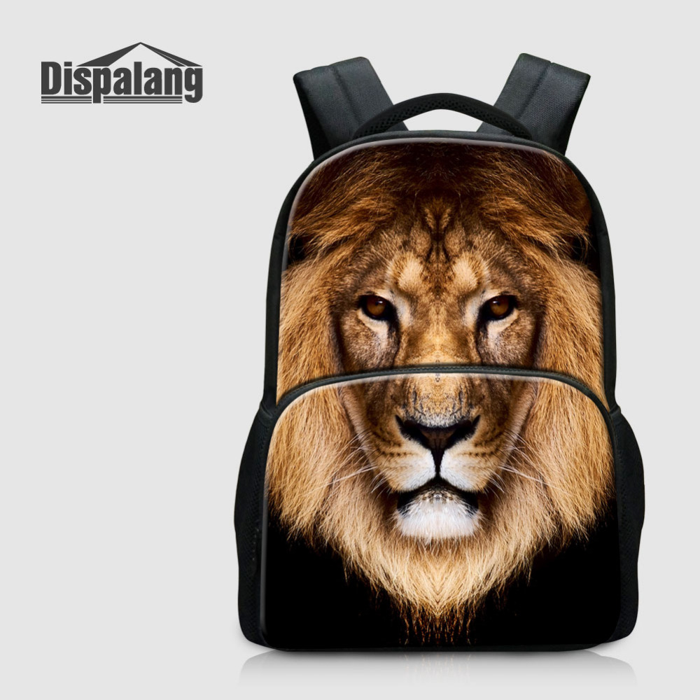 Dispalang Men Women Laptop Backpacks Lion Animal Print Multifunction Rucksack Oxford School Bags for Teenagers Kids Travel Bag new gravity falls backpack casual backpacks teenagers school bag men women s student school bags travel shoulder bag laptop bags