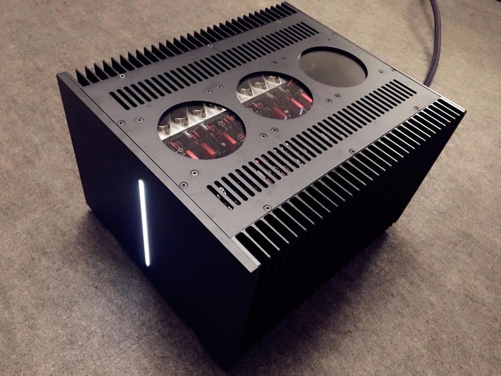 купить 60W Class A Power Amplifier Hi-End A1000 Dual Channel Audio Amp Black онлайн