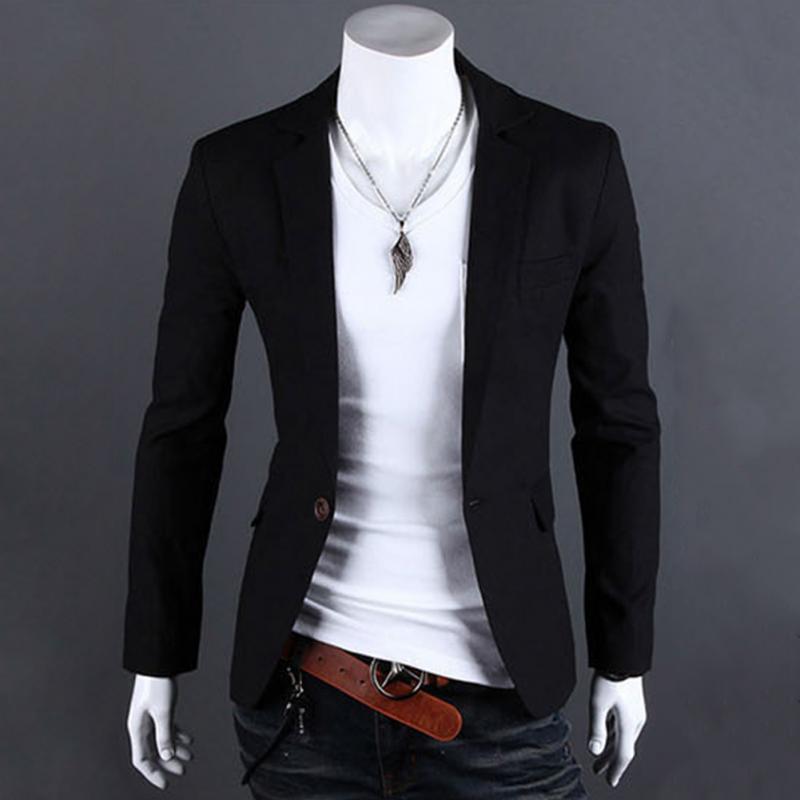 2017 new men one button blazer men slim fit suit fashion. Black Bedroom Furniture Sets. Home Design Ideas
