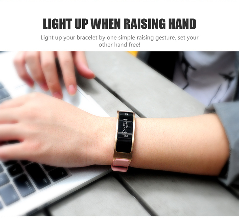 Smartch I8 Smart Bracelet Talk Band Heart Rate Blood Pressure Oxygen Pedometer Bluetooth smartband watch Than Huawei B3 11