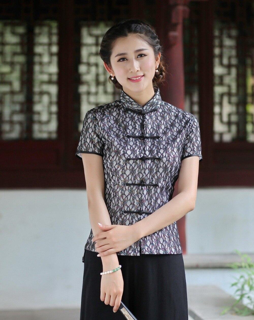25202 25201 Blouse Chinois Cheongsam Option Tops Traditionnel Histoire Style 2520 En Tradition Dentelle Top 25203 5 Coton Shanghai 25204 25205 zgqxaZEn