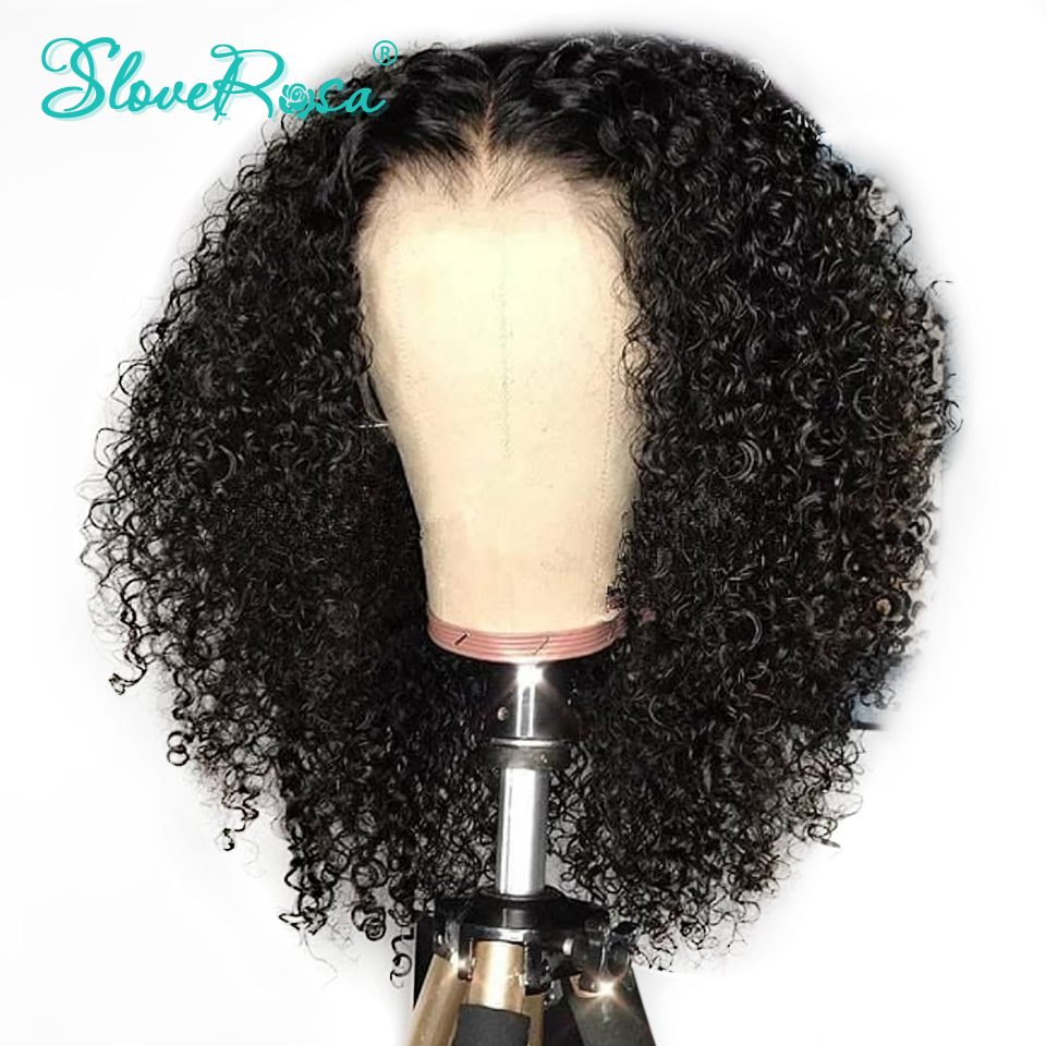 Lace Front Curly Human Hair Wig Brazilian Remy Hair Wigs For Black Women Bleached Knots Pre