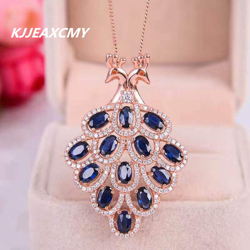 KJJEAXCMY boutique jewelry,Natural Blaupunkt female stone pendant, sterling silver inlay jewelry wholesale, S925 Sterling Silver усилитель blaupunkt gta 275