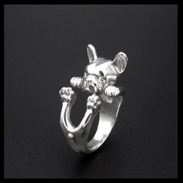 Creative Resizable Bulldog Shaped Ring