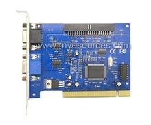 V250B V8.2 software GV card for cctv pc system video capture card PAL/NTSC MPEG-4 compression CCTV DVR Card Free shipping