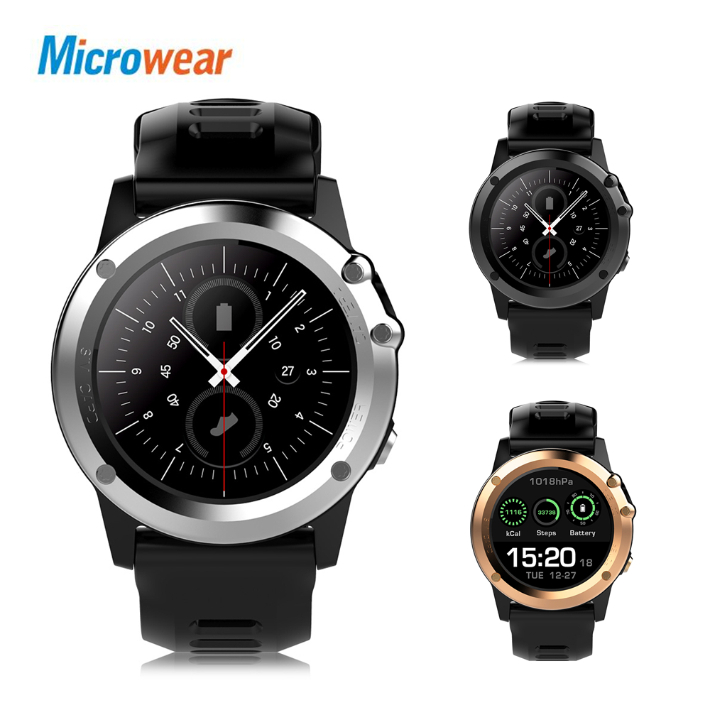 Microwear H1 3G Smartwatch Phone 1.39 inch MTK6572 Dual Core 1.2GHz 4GB ROM IP68 Waterproof 2MP Camera Pedometer GPS Smart Watch zgpax s5 watch smart phone dual core 1 54 inch capacitive touch screen android 4 0 512mb ram 4g rom 2mp camera with gps silver black