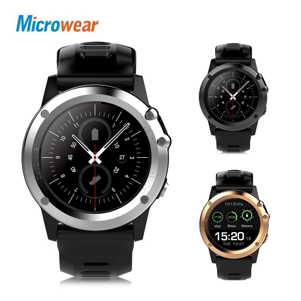 Microwear H1 3G Smartwatch Phone 1.39 inch MTK6572 Dual Core 1.2GHz 4GB ROM IP68 Waterproof 2MP Camera Pedometer GPS Smart Watch