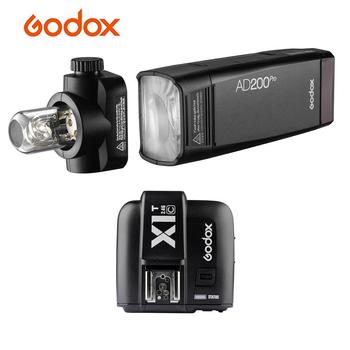 Portable Godox AD200Pro Pocket Flash with X1T-C Flash Trigger Transmitter Wireless TTL Flash with Flash for Canon EOS Cameras