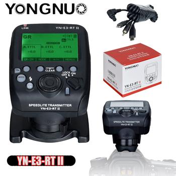 YONGNUO YN-E3-RT II Flash TTL wyzwalacz radiowy nadajnik Speedlite w jak ST-E3-RT dla Canon 600EX-RT YONGNUO YN600EX-RT tanie i dobre opinie Black ETTL M Multi GR 4 flash modes Flash TTL Radio