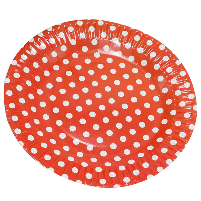 1bag 10 pieces 7\  Polka Dot Paper Plates for Valentine Birthday Wedding Nursery Party Tableware  sc 1 st  AliExpress.com & 1bag 10 pieces 7\