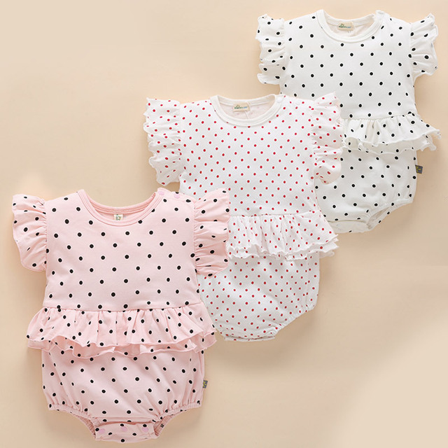 7c220c1e6eac7 2018 Baby underwear Climbing Girl Clothes Summer Direct Cute 3 Months  Princess Newborn Cotton Rompers baby clothes