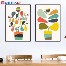 AFFLATUS Flower Watercolor Painting Wall Art Print Canvas Nordic Poster Pictures For Living Room Kitchen HomeDecor