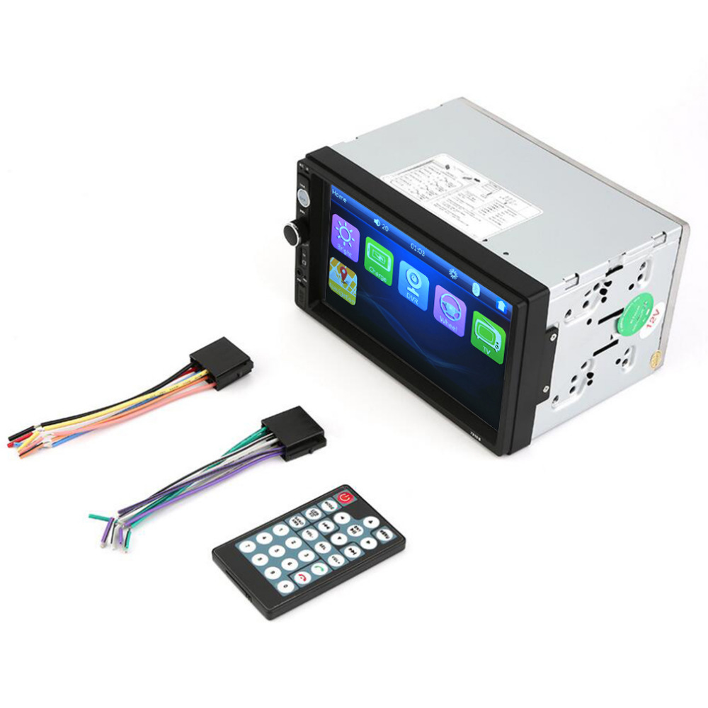 ФОТО Universal 7 Inch TFT 2Din 1080P Touch Screen Car Monitor Bluetooth FM Car Radio Player Rearview Camera MP4/MP5 Player USB