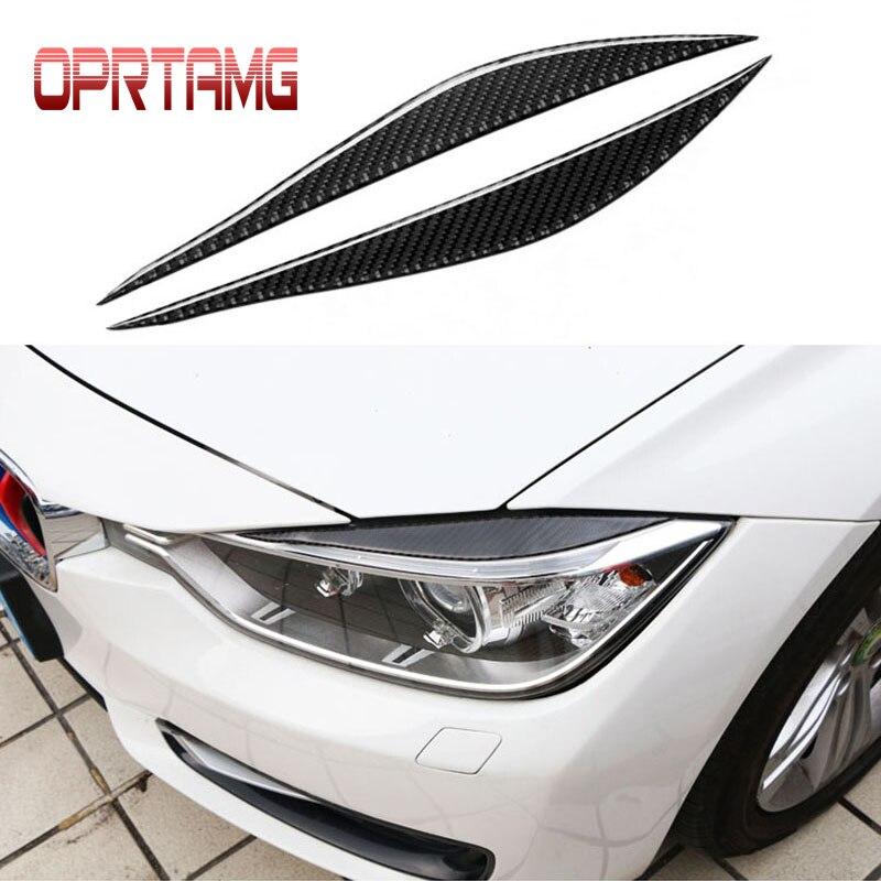 2 шт. новый углеродного волокна фары Брови Веки автомобильные аксессуары для BMW F30 320i 325i передние фары бровей 3 серии 2013-2015