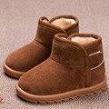 2016 Del Bebé Del Invierno Niños Botas Snow Kids Niño Cálidas Botas de Felpa resbalón en Los Bebés Varones Botas de Piel Zapatos Enfant Botas Forro Térmico