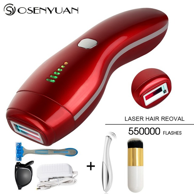 Newest 2in1 IPL Epilator Permanent Laser Hair Removal LCD Display 550000 Pulses depilador a laser Bikini Trimmer Photoepilator