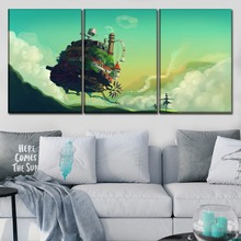 Canvas Poster Wall Art Framework HD Prints Pictures 3 Pieces Anime Please Return Home Abstract Painting Decorative Artwork