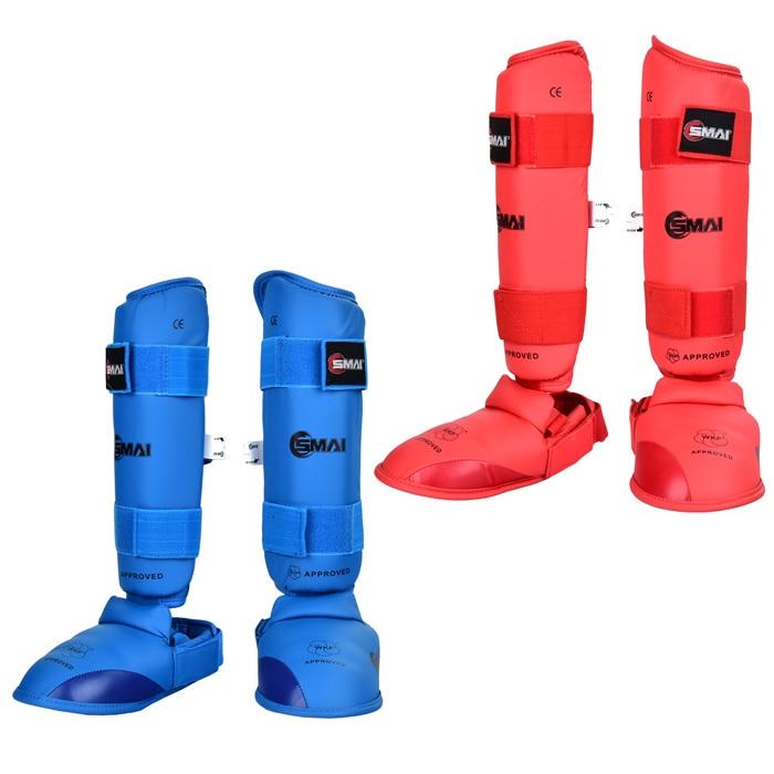 где купить New SMAI karate Leg protectors foot protector WKF karate good quality protector special shank /shin protectors Italy по лучшей цене