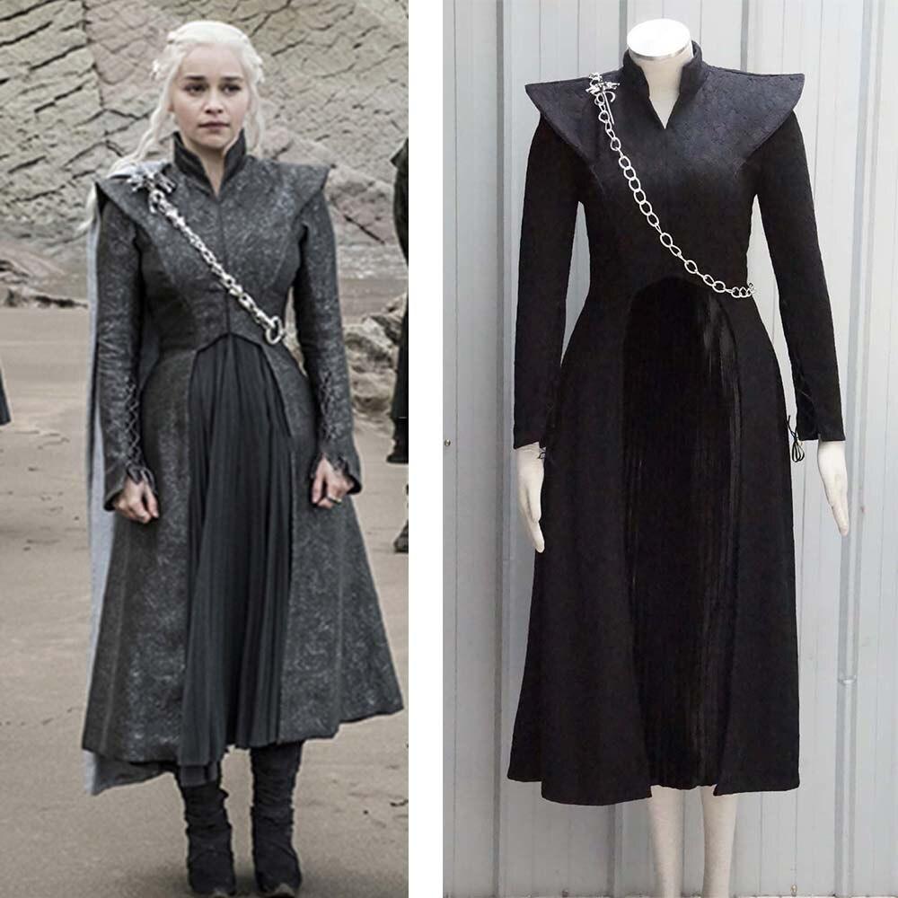 Game of Thrones 7 Daenerys Targarye Mantle Cape Mother of Dragons Woman Cloak