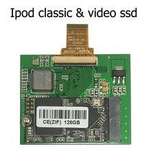 Ssd 128gb para ipod classic 6th 7th ipod, vídeo 5gen 5.5th substituição «mk8010gah mk8022gaa» mk1231go zif ce hdd hdd