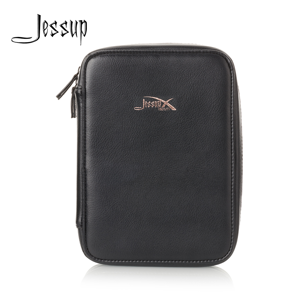 Jessup Royal Gold & Black Cosmetic bag set for Makeup accessories Women bags Make up tools Travel beauty case CB006