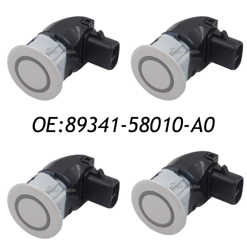 New 4pcs 89341-58010-A0 Car Parking Ultrasonic Sensor for Toyota Alphard 89341-58010 ,89341-58010-A0 042 4 pcs auto parts new original ultrasonic parking sensor 89341 76010 c0 89341 76010 8934176010 for lexus gs450 hybrid