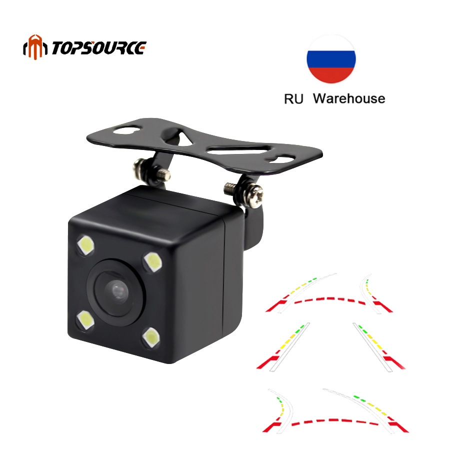 TOPSOURCE Advanced Dynamic Parking Track Car Back Reverse CCD Dynamic Trajactory Rear View Camera 170 Night vision WaterproofTOPSOURCE Advanced Dynamic Parking Track Car Back Reverse CCD Dynamic Trajactory Rear View Camera 170 Night vision Waterproof