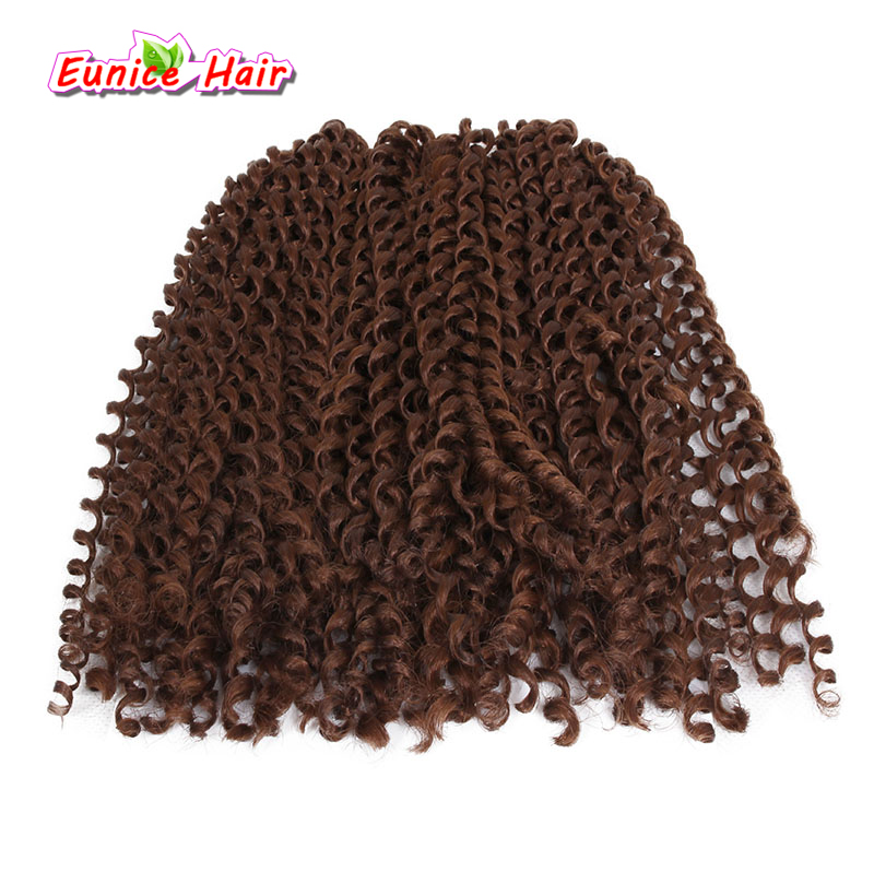 Ombre 10 inch cabelo freetress trança Cinza água Freetress cabelo Jerry Onda Extensão Do Cabelo Sintético onda Profunda kinky curly Crochet