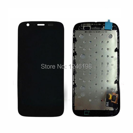 Replacement New Glass LCD Display Touch Screen Digitizer Assembly For Motorola MOTO G XT1032 XT1033 With Frame by Free Shipping new original lcd replacements for motorola moto g xt1032 xt1033 lcd display touch digitizer screen with frame assembly tools