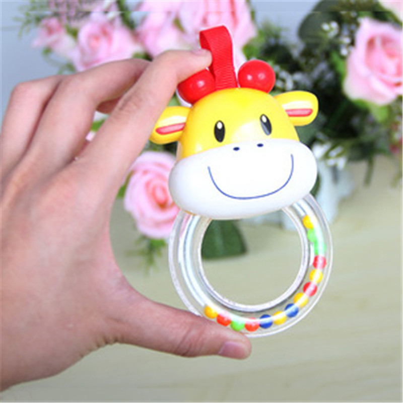 Newborn Hand Bell Multifunctional Stroller Hanging Rattles For 0-12 Months Baby Rattles Toys Elephant Cattle Animals Rattle Toy