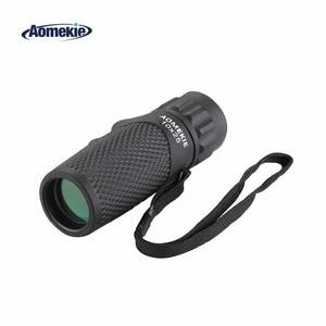 Монокуляр AOMEKIE 10X25 HD, карманный Монокуляр с оптическими линзами, открытый, для гольфа, наблюдения за птицами, кемпинга, телескоп, портативный ...