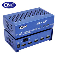 CKL 1 In 4 Out HDMI Splitter 1 4v 4K 3D 1x4 HDMI Distributor Duplicator For