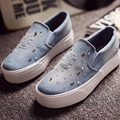New Flats 2016 Casual Slip-On Round Toe Jean Denim Vintage Shoes