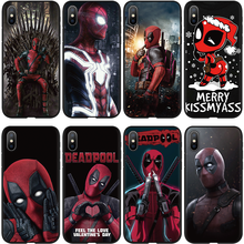 Marvel The Avengers Jorker Dead Pool Druck Zeichnung Fall TPU Weiche Für iPhone XS Max 7 8 Plus XS X 6 6S 5 5S 11 Pro MAX XR Fall(China)