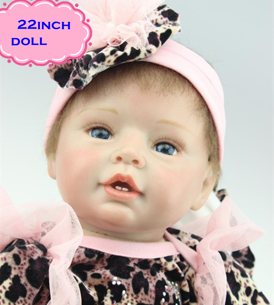 New Gift Brinquedos 22 Inch NPK Silicone Reborn Baby Dolls for Sale Lifelike Real Doll Baby Gift Bonecas Bebe Reborn Brinquedos free shipping hot sale real silicon baby dolls 55cm 22inch npk brand lifelike lovely reborn dolls babies toys for children gift