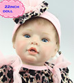 Novo Dom Brinquedos 22 Polegada NPK Silicone Renascer Baby Dolls para Venda Realista Boneca Real Presente Do Bebê Bonecas Reborn Bebe Brinquedos