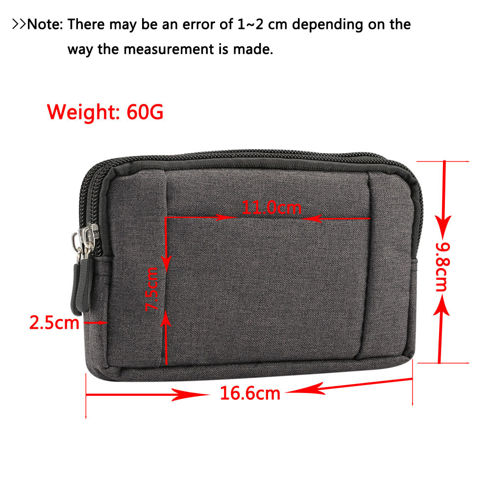Cowboy Cloth Phone Pouch Belt Clip Bag For Samsung A5 A3 A8 J5  J7 S9 S8 S7 Case with Holder Waist Bag Outdoor Sport Phone Cover