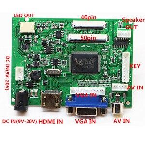 Image 2 - HDMI+VGA+ 2AV+Audio 40pin 50pin LCD Driver Controller Board Kit for Panel AT065TN14/AT070TN90/AT070TN92/AT070TN94/AT090TN10