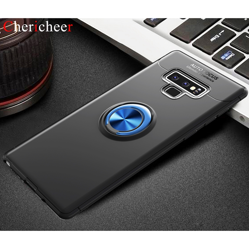 Magnetic Car Holder Note9 Case For Samsung Note 9 Case Silicone 360 Ring Bumper Case For Samsung Galaxy Note 9 Case Note 9 Cover