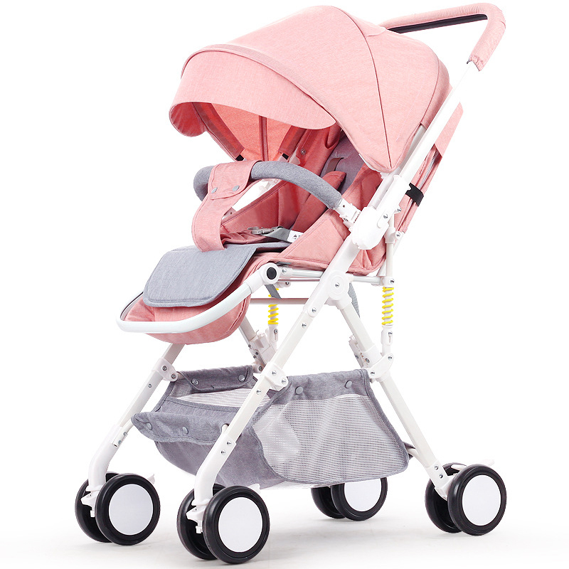 Baby stroller can sit and lying trolley 6KG ultra-light portable folding baby stroller  high landscape umbrella car