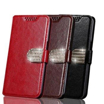 Перейти на Алиэкспресс и купить Роскошный чехол-кошелек из искусственной кожи с магнитной застежкой и держателями для карт, чехлы для мобильных телефонов Smartisan Nut 3 R1 Pro 2 M1 T2 ...