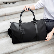 WEIXIER Men Travel Bags Fashion Nylon Big Handbag Capacity Luggage Duffle Folding Trip Bag Large Totes