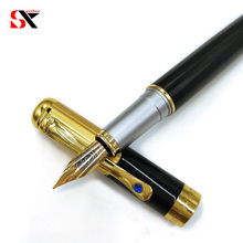 Yushun black and gold luxury diamond fountain pen for financ