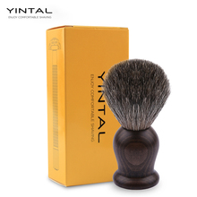 цены YINTAL 100% Pure Mixed Badger with Rosewood Wooden Handle Shaving Brush Shave Tool Shaving Razor Brush