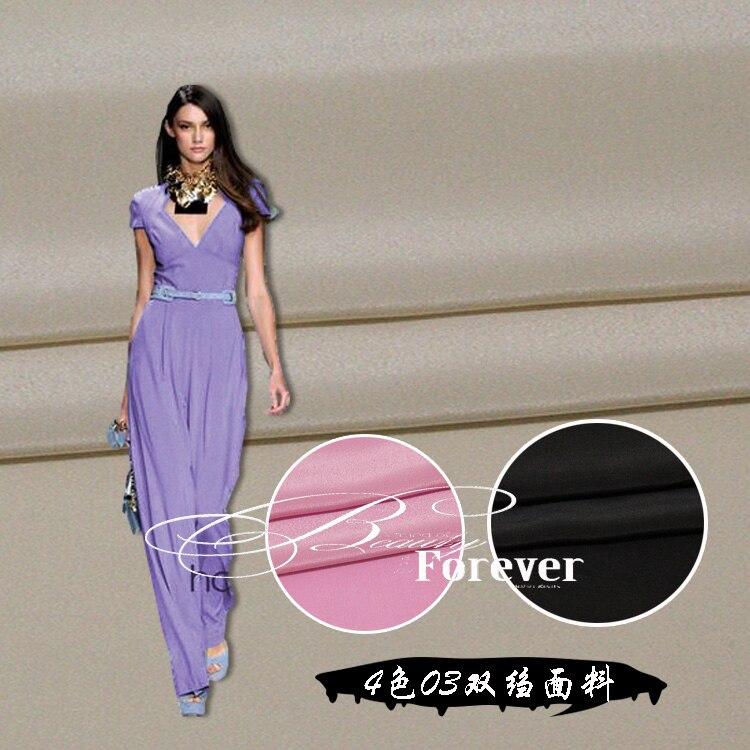518ef147e 100% الحرير 16 mm4 اللون مزدوجة قماش كريب تنورة الملابس شيونغسام وغيرها من  الأقمشة الحرير الأقمشة