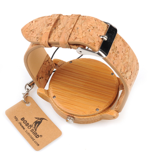 Image 5 - BOBO BIRD WA29 Wooden Watch Blue Indexes White Green Clothes Constitute Dial Nice Women Bamboo Watches
